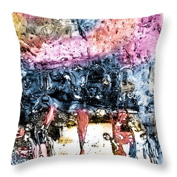 Ice Number Four Throw Pillow by Bob Orsillo