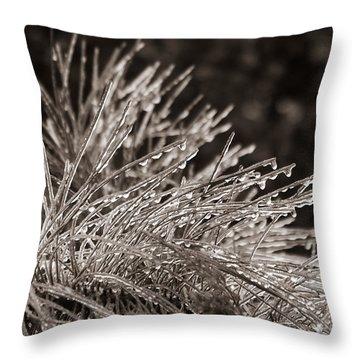 Ice On Pine Throw Pillow