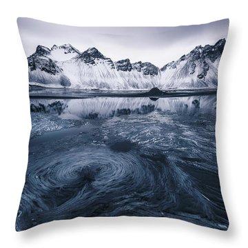 Black Ice Throw Pillows