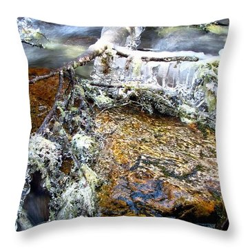 Ice Ornaments Throw Pillow