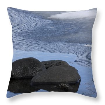 Ice Out At Pumice Point Throw Pillow