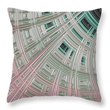 Ice Palace Throw Pillow