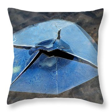 Throw Pillow featuring the photograph Ice Penetration by Gary Slawsky