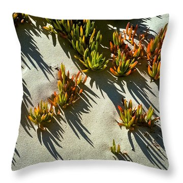 Ice Plant In Sand Throw Pillow