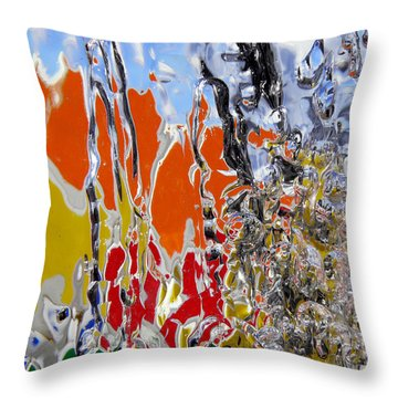 Ice Puzzle Throw Pillow by Sami Tiainen
