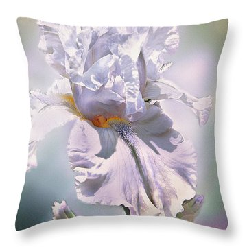 Throw Pillow featuring the digital art Ice Queen by Mary Almond