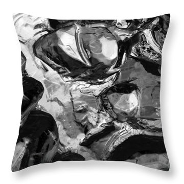 Throw Pillow featuring the photograph Ice Series 21 by John  Bartosik