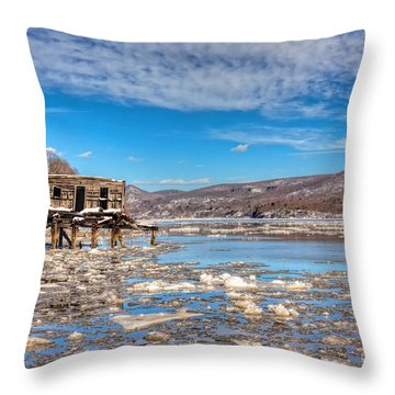 Ice Shack Throw Pillow