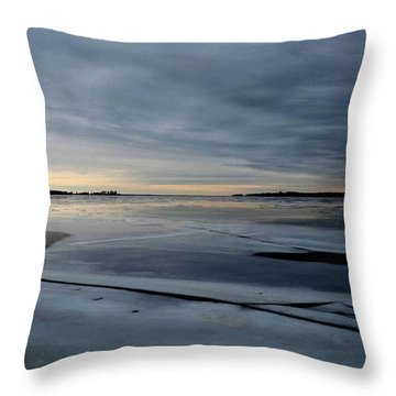 Ice Shatter - Storm Imagined - Canada Throw Pillow