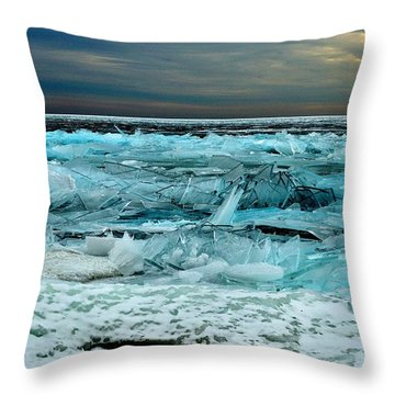 Ice Storm # 3 - Battery Bay - Kingston - Canada Throw Pillow