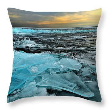 Ice Storm # 6 - Battery Bay - Kingston - Canada Throw Pillow