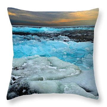 Frozen Beauty In Extreme Throw Pillow