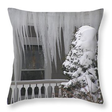 Ice Storm Throw Pillow by Jewels Blake Hamrick