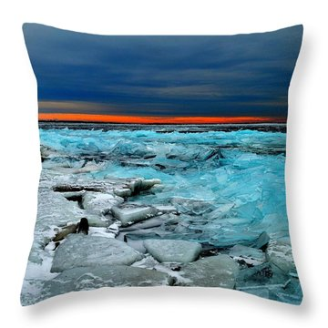 Ice Storm # 7 - Battery Bay - Kingston - Canada Throw Pillow