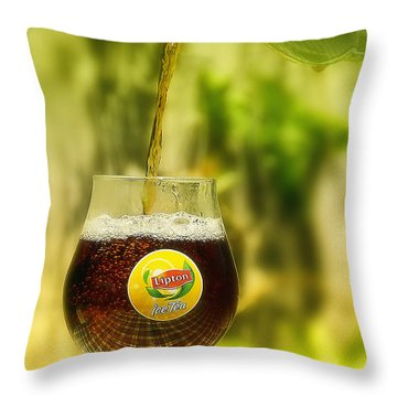 Throw Pillow featuring the photograph Ice Tea 01 by Kevin Chippindall