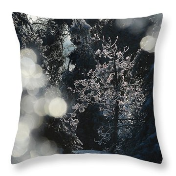 Ice Tree-5074 Throw Pillow