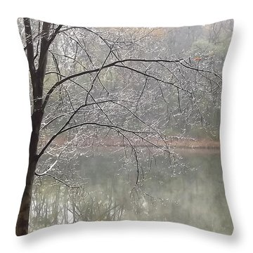 Ice Tree Throw Pillow by Bill Woodstock