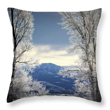 Ice Trees Throw Pillow