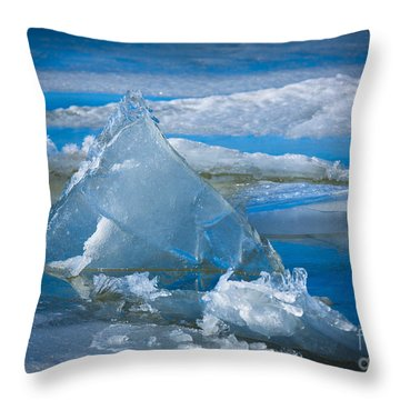 Ice Triangle Throw Pillow by Inge Johnsson