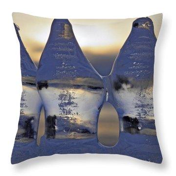 Ice Trio Throw Pillow