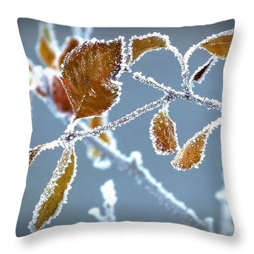 Ice Vines Throw Pillow