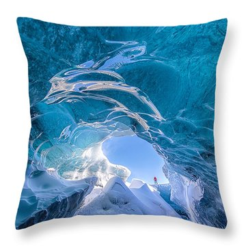 Ice Vortex Throw Pillow