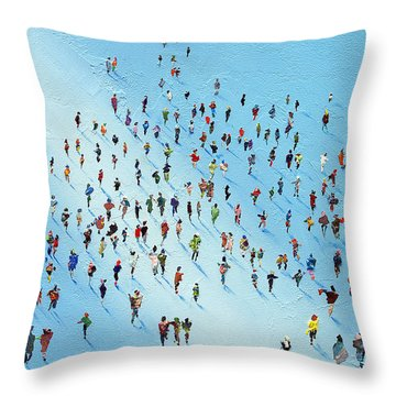 Ice Walking Throw Pillow by Neil McBride