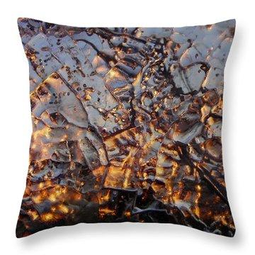 Ice Web Throw Pillow