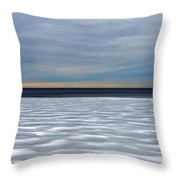 Ice Wind - Pattern - Canada Throw Pillow