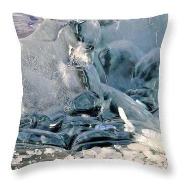 Iceberg Detail Throw Pillow by Cathy Mahnke