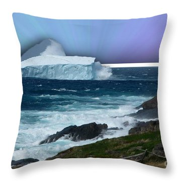 Iceberg Escape Throw Pillow by Barbara Griffin
