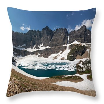 Throw Pillow featuring the photograph Iceberg Lake by Aaron Aldrich