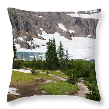 Iceberg Lake Throw Pillow