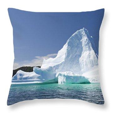 Throw Pillow featuring the photograph Iceberg Newfoundland Canada by Liz Leyden