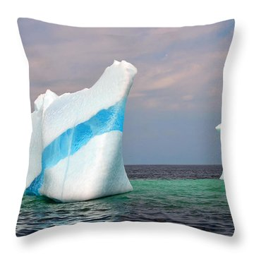 Iceberg Off The Coast Of Newfoundland Throw Pillow