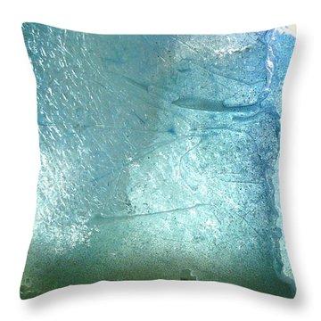 Iceberg Sculpture Detail Throw Pillow by Rick Silas