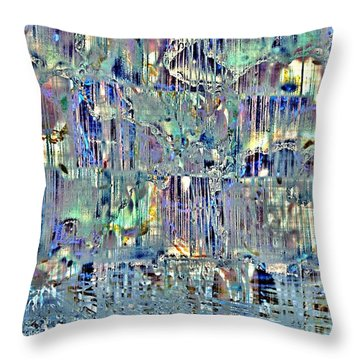 Throw Pillow featuring the digital art Icebreaker-no1 by Darla Wood