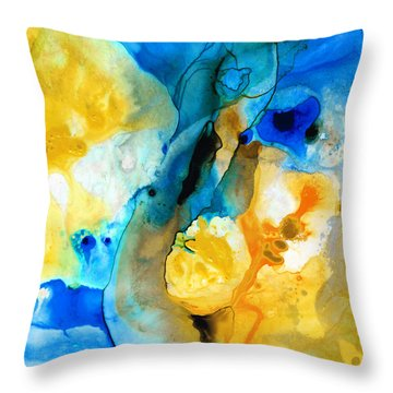 Iced Lemon Drop - Abstract Art By Sharon Cummings Throw Pillow