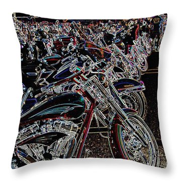 Iced Out Bikes Throw Pillow
