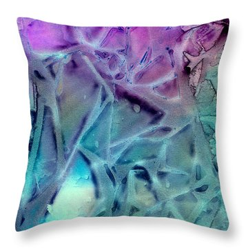 Iced Rhododendron Throw Pillow