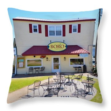 Icehouse Waterfront Restaurant 2 Throw Pillow by Lanjee Chee