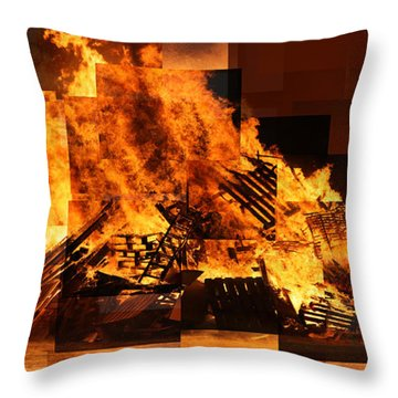 Iceland Bonfire Throw Pillow