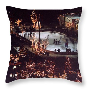 Icer Skaters Throw Pillow by Tarey Potter