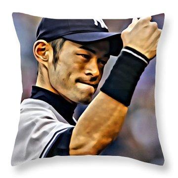 Ichiro Suzuki Painting Throw Pillow