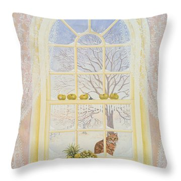 Icicles Throw Pillow by Ditz