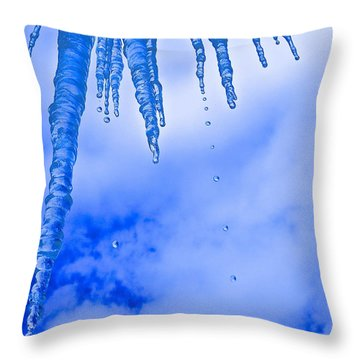 Icicles Melting Throw Pillow