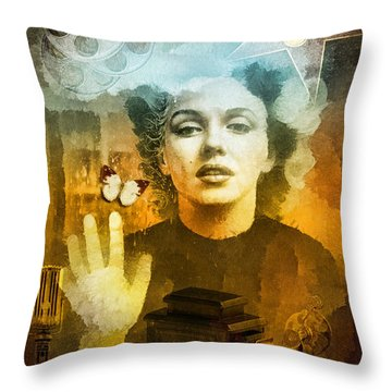 Icon Throw Pillow by Mo T