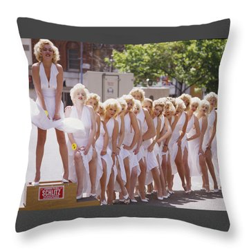 Iconic Marilyn Throw Pillow by Shaun Higson