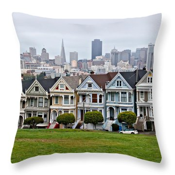 Iconic Painted Ladies Throw Pillow