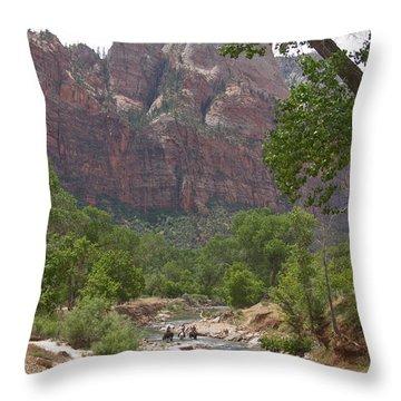 Iconic Western Scene Throw Pillow